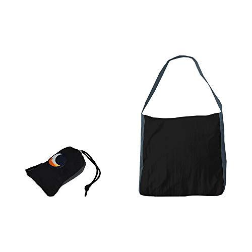 チケットトゥザムーン エコマーケットバッグ 【レビュー記載で10年保証】 ticket to the moon eco market bag (ブラック/ダークグレー)