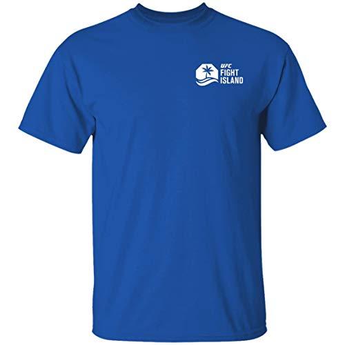 Fight Island Shirt Mens UFC Reebok Fight Island Crew T Shirt Royal Plus Size Clothing