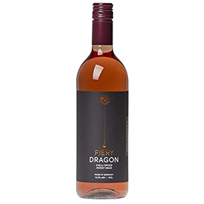 Premium Chilli 'Fiery Spice' Honey Mead (Drink Hot or Cold) Fiery Dragon Traditional Chilli Mead Wine - 750ml - 10.5% ABV