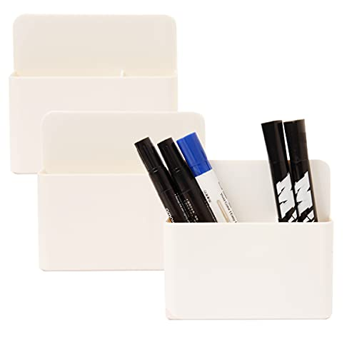 Ira Pollitt 3 Pack Magnetic Dry Erase Marker Holder,Magnetic Marker Holder Mighty-magnetic Pen Organizers with Powerful Neodymium Magnets for Whiteboard, Refrigerator, Metal Locker and Cabinets