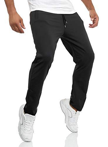 Smith & Solo Jogginghose Herren – Jogger Männer Modern | Baumwolle Jungen Slim Fit Freizeithose | | Sporthose – Training – Trainingshose | (XX-L, Schwarz/Polyester)