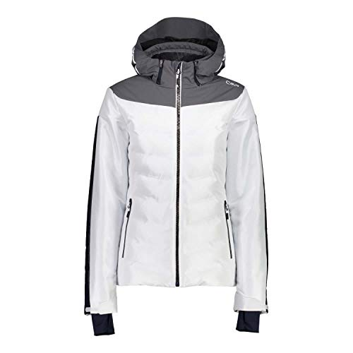 CMP Damen Skijacke Woman Jacket Zip Hood 39W1636 Bianco 40