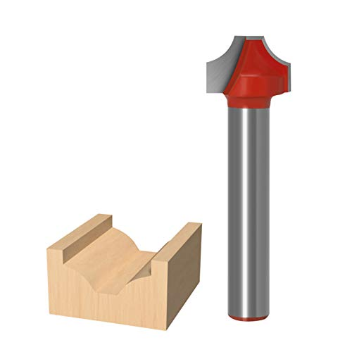 Haodasi 12mm Woodworking Carving Router Bits, 6mm Shank Carbide CNC Groove Engraving Milling Cutter for Wood Tool