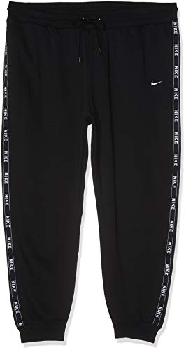 Nike Damen Logo Tape Jogginghose (Plus Size), Black/(Summit White), 2X