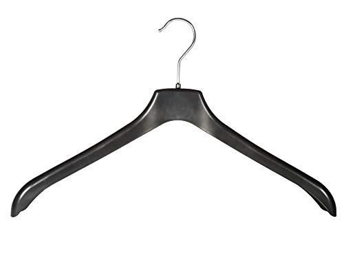 Kleiderbügel für Blusen, Blazer und Jacken, 44cm, schwarz, NNF44b, 15 Stück