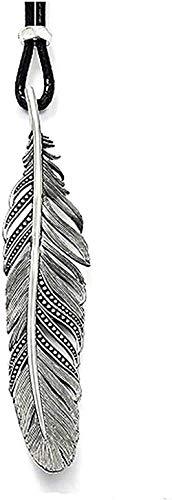 ZPPYMXGZ Co.,ltd Collar de Cuero de Moda Collar de Cuerda de Plumas 2017 TS 925 Joyería de Moda Regalo de joyería de Estilo Thomas para Hombres