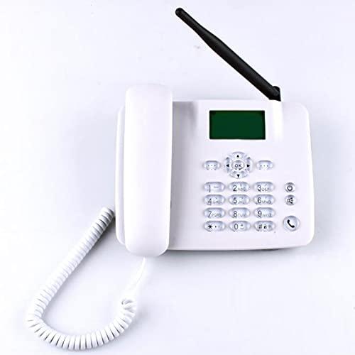 DSJGVN Teléfono De Escritorio gsm Inalámbrico, Teléfonos Fijos, Manos Libres, Envío Y Recepción De Mensajes De Texto,teléfono De Escritorio Clásico gsm Cuatribanda, Tarjeta SIM Inalámbrica, Blanco
