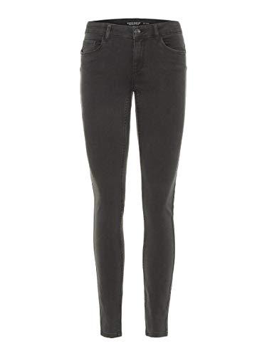 VERO MODA Female Slim Fit Jeans Vmseven Normal Waist S30Dark Grey Denim