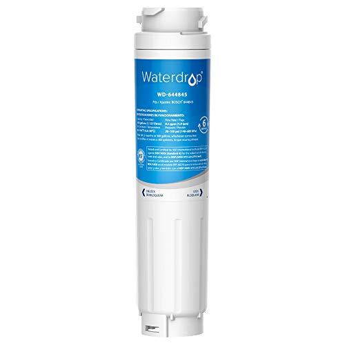 1X Waterdrop 644845 Filtro Acqua Frigorifero, Compatibile con Bosch UltraClarity 644845 REPLFLTR10 00740560 9000194412 9000077104 Neff Gaggenau Miele/Haier 0060820860 0060218743 Rangemaster DXD 90170
