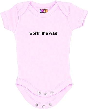 White 6-12 Months Worth The Wait Onesie//Bodysuit