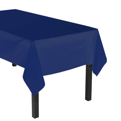 """Party Essentials ValuMost Plastic Table Cover Available in 36 Colors, 54"""" x 108"""", Navy Blue"""