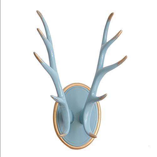 xilinshop Percheros Pared Simple Nordic Antler Hook Inicio decoración de la Pared Colgante Creativo Gancho Llavero Cuelga Llaves Pared Colgador (Color : Blue)