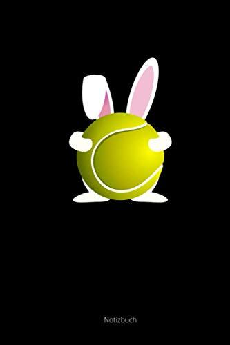 Notizbuch: A5 Kariert Osterhase Tennisball Hase Tennis Ostergeschenk Tennisspieler Notizheft Journal Schreibheft