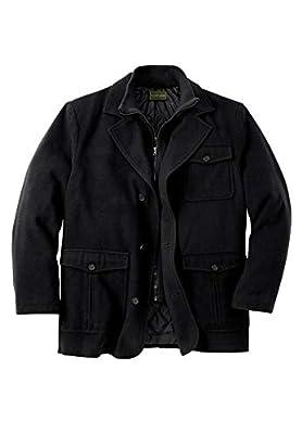 KingSize Men's Big & Tall Multi-Pocket Inset Jacket - Big - 5XL, Black from KingSize