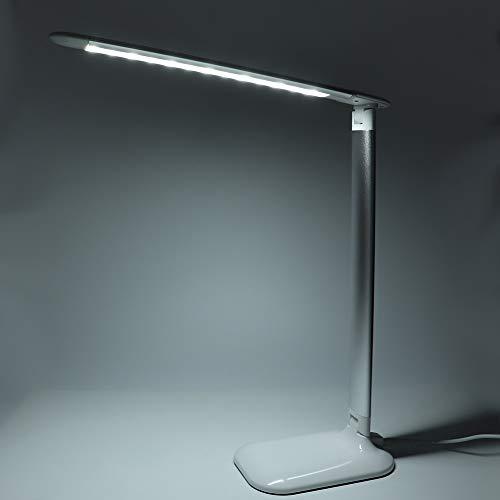 Changor Lampe de manucure à LED, Lumière de Bureau Pratique 2835 0,2W avec Protection de l'environnement ABS Éclairage Droit pour Le Salon de beauté (Argent)