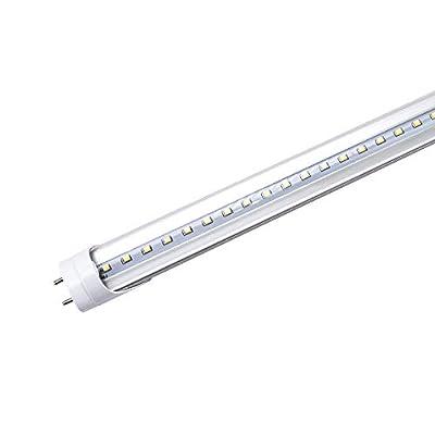 LightingWill LED T8 Light Tube 3FT, Daylight White 5000K, Dual-End Powered Ballast Bypass, 1600Lumens 15W (32W Fluorescent Equivalent), Clear Cover, AC85-265V Lighting Tube Fixtures, 1 Pack