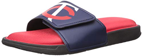 Men's Twins logo and color cushioned sandals