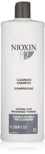 Nioxin System 2 Cleanser Shampoo for Natural Hair with Progressed Thinning, 33.8 oz