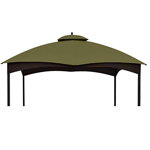 ABCCANOPY Replacement Canopy Top for Lowe's Allen Roth 10X12 Gazebo #GF-12S004B-1, Riplock 350 (Khaki)
