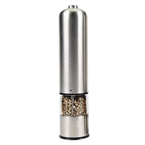 Elektrische zout- en pepermolen met licht, Battery Powered Automatische slijpmachines roestvrij staal Verstelbare Ceramic Grinder Geschikt voor Komijn sesamzaadjes Spices