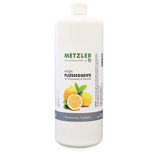 METZLER Molke Flüssigseife Mit Zitronenöl Und Kamille - Sanfte Reinigung Für Zarte Hände, 1er Pack(1 x 1000 ml)