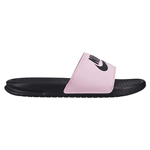 pink and black jordan slides - 1