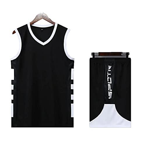 HAZYJT Conjunto de Camiseta de Baloncesto para Hombre, Camiseta de Malla de Baloncesto Retro Swingman Edition sin Mangas