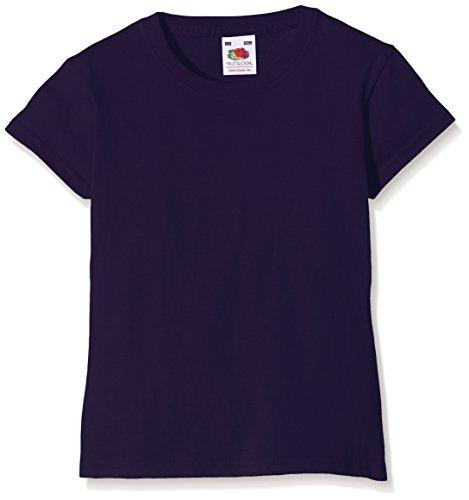 Fruit of the Loom Mädchen Valueweight T-Shirt, Violett (Purple PE), Gr. 14-15 Jahre (164 cm)