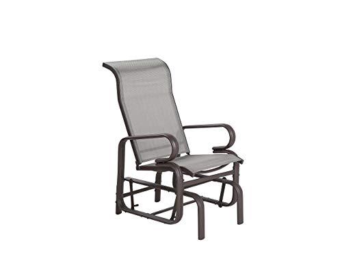 Moderner Garten-Schaukelstuhl aus Aluminium Textilene Bespannung Borgio