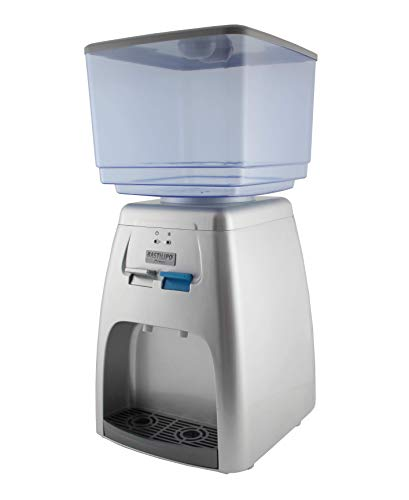 Bastilipo 7623 - Manantial - Dispensador de Agua Fría de 65 W y 7 Litros de Capacidad, Temperatura de Enfriamiento: 8-15 Grados, Color Plateado