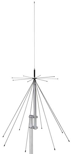 Sirio Antenne Sd-1300/Uhf, Discone-Antenne, Frequenzbereich Rx 25-1300Mhz, 2,15 dBi, maximale Leistung 300 W (VHF) 200 W (Uhf), Höhe 1,6 m, Edelstahl/Aluminium