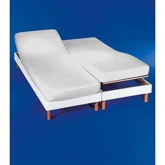 Cotton ArtDrap-housse pour lit double articulé 180 x 190/200 cmCouleur : blancDimensions de chaque lit 90 x 190/200 cm. Disponible en couleur crème.