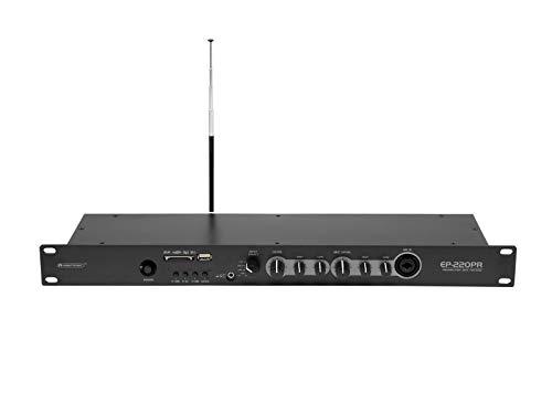 OMNITRONIC EP-220PR voorversterker met MP3-speler, Bluetooth en FM-radio