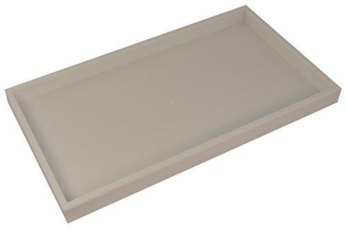 Boxdisplays BD1-1PW - Bandeja apilable de plástico, color blanco, 375mm  x 210 mm, (2,5 cm de profundidad)