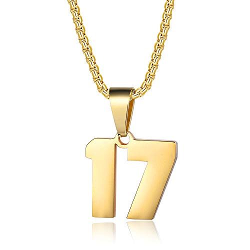 number 17 necklace - 3