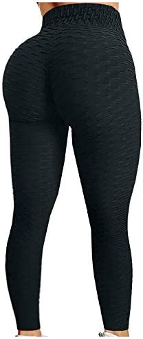 soyienma Butt Lifting Anti Cellulite Sexy Leggings for Women High Waisted Yoga Pants Workout product image