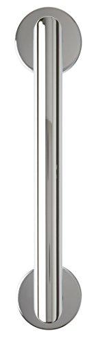 Croydex Moderne Edelstahl Haltegriff mit Unterputzarmaturen, Chrom, 30cm