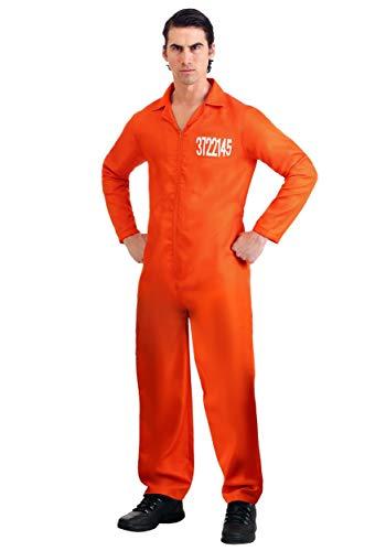 Fun Costumes Men's Prison Orange Jumpsuit X-Small
