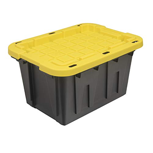 Original BLACK & YELLOW 12-Gallon Storage Containers with Lids,...