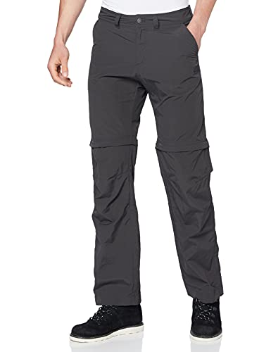 Jack Wolfskin Herren Hose Canyon Zip Off Pants, Phantom, 52, 1504191-6350052