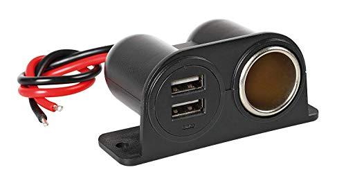 Lampa 38967 stopcontact 12/24 V met dubbele USB-aansluiting