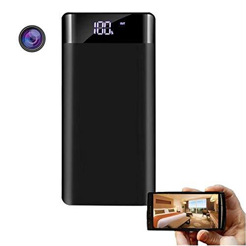 GEQWE Cámaras Ocultas, Pequeña Cámara Oculta WiFi Power Bank con 20000Mah Night Vision Wireless Mini IP P2p Spy Powerbank Camera con Largo Tiempo De Grabación