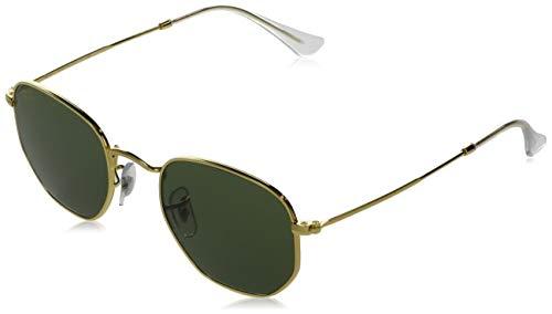 Óculos de Sol RAY-BAN Hexagonal Legend RB3548 919631 54 - Dourado/Verde Clássico G-15