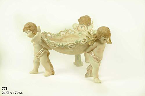 CAPRILO Figura Decorativa de Resina Centro de Mesa Ángeles. Adornos y Esculturas. Decoración Hogar. Animales. Regalos Originales. 32 x 17 cm. IB 5