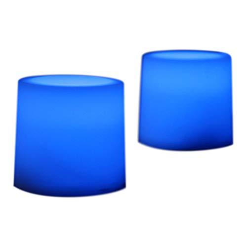 12 recargable velas LED azul Iluminación Juego de velas para casa, eventos por pk verde
