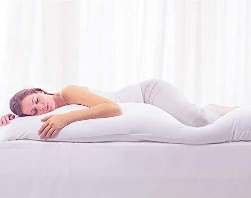 Travesseiro de Corpo Com Fronha Antialérgico Fibra Siliconada Extra Macio BF Colchões