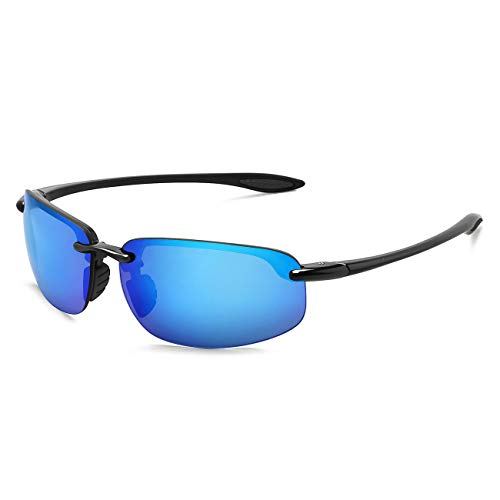 MAXJULI maxjuli Sport Sonnenbrille Herren Damen Tr90 Metall Randloser Rahmen Markendesigner für Laufen Angeln Baseball Fahren MJ8001 ?