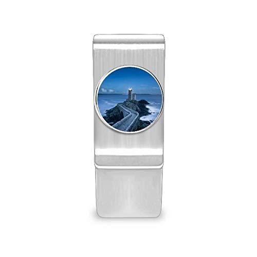 Carteira Ocean Dark Tower com clipe para dinheiro