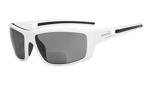 Eyekepper TR90 Bifocal Zonnebrillen voor sport +2.50 Wit frame.