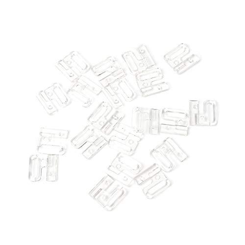 HLLR 10 Ganchos de Grifo rectangulares de plástico artesanales Hermosos y Cierre de Costura en Sujetador de Traje de baño Bikini
